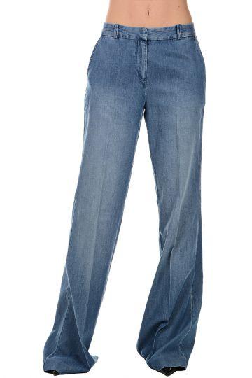 Jeans wide Leg in Misto Cotone