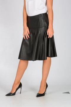 MICHAEL Leather Skirt