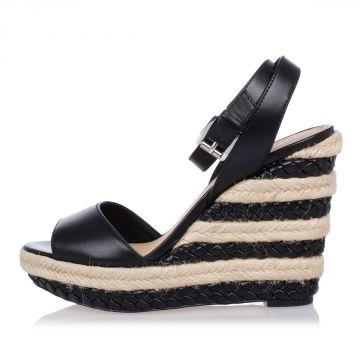 Sandalo KYLA In Pelle con Zeppa 11 cm