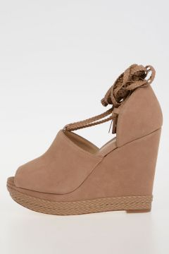 MICHAEL 11cm Leather HASTINGS Wedge Sandals