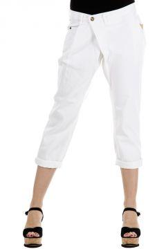 Pantaloni Jeans Capri in cotone
