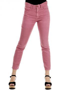 Pantaloni Jeans  in cotone misto lino