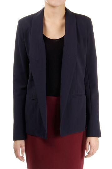 Single breast open blazer