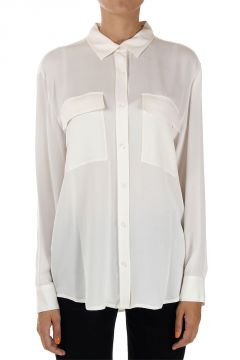 Silk Shirt with 2 Breast Pockets