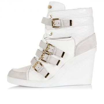 """Leather """"COLBY WEDGE"""" Wedge sneakers"""