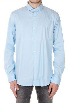 Camicia in Cotone Stretch Slim Fit