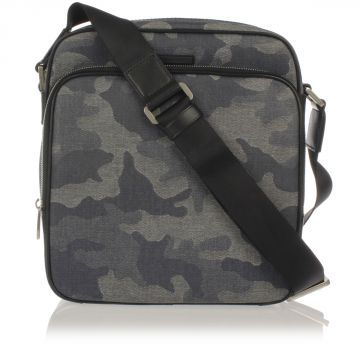 Printed Fabric Messenger Shoulder Bag
