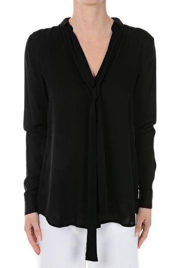 Silk Shirt With Pleats