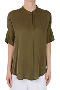 Short Sleeved Silk Shirt