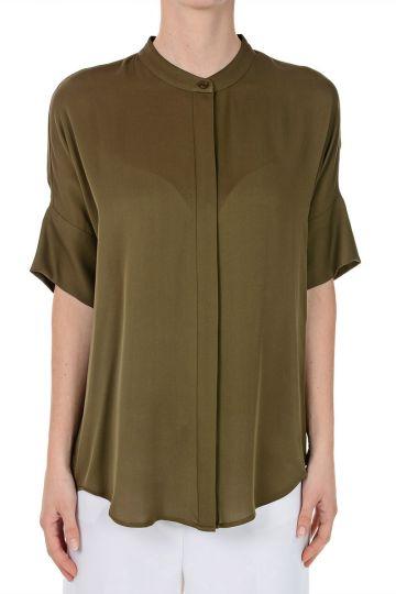 Short Sleeved Silk Shirt
