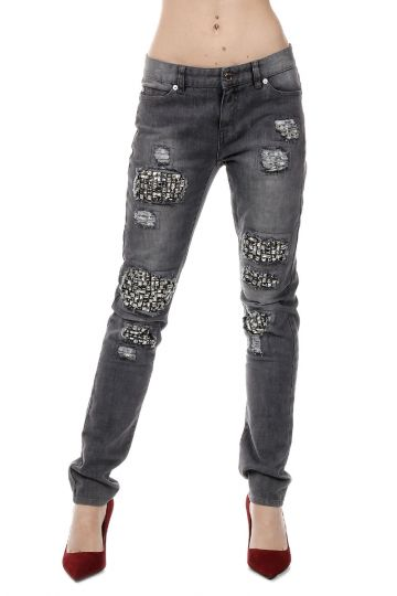 Stretch Denim RELAXED FIT Jeans 15 cm