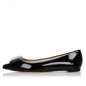 MICHAEL Ballet Flat Loafer With Jewel Details