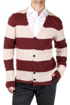 Striped Mixed Alpaca Cardigan
