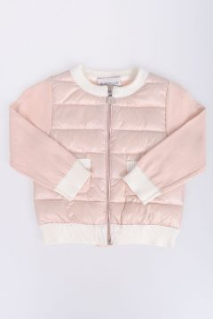Nylon Down TRICOT Jacket With Knitted Sleeves