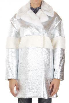 """Cappotto """"EMILY"""" imbottito in piumino con pelliccia"""