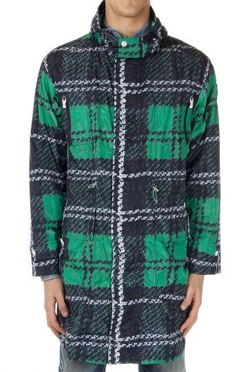 Checked pattern Long Jacket