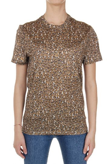 Round Neck Patterned T-Shirt