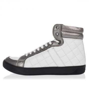 Quilted Leather High Sneakers
