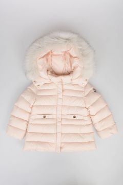 Baby Down Padded Suit with Real fur