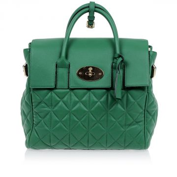 Quilted Leather CARA DELEVINGNE Bag