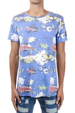 Comic pattern Cotton T-Shirt