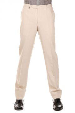 Mixed Cotton and Linen Trousers
