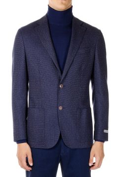 Extrafine Virgin Wool Polka dot blazer