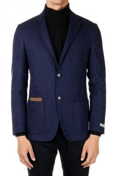 Wool cotton Single Breasted Blazer