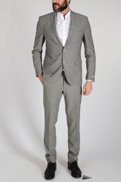 Pinstripe Virgin Wool Suit