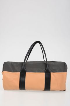 Nylon Leather weekend Bag