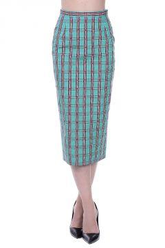 Cotton Jewel Details Skirt