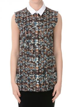 Cotton Blend Sleeveless Blouse