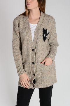 Intarsia Wool & Silk Cardigan