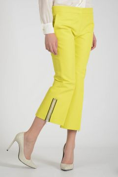 Cotton Pants with Ankle Zip