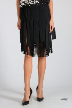 Fringed & Studded Skirt