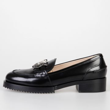 Leather NEW AIR Loafers with Crystals