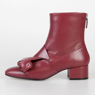 4 cm Leather Ankle Boots