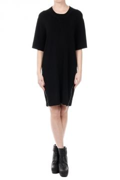 Knit Dress with Lateral Zip