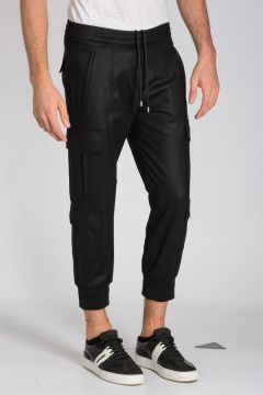 Pantaloni Cargo in Lana Vergine Stretch