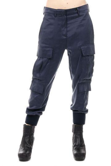 Pantaloni Cargo con Elastico alla Caviglia