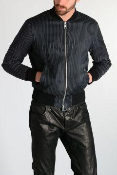 Virgin Wool Blend Bomber Jacket