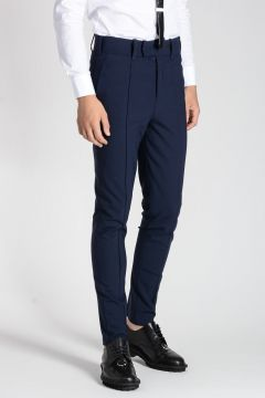 Virgin Wool Blend SKINNY LOW RISE Pants