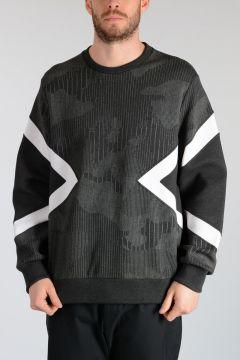 Neoprene PINSTRIPED CAMOUFLAGE Sweatshirt