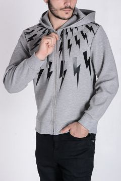 Hooded Sweatshirt Bolt Printed