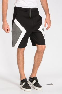 Pantaloni Corti GEOMETRIC PANELLED in Neoprene