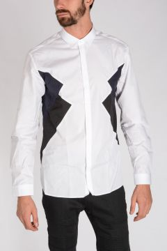 GEOMETRIC PANELLED Shirt