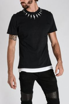 Bicolor Jersey THUNDERBOLT T-shirt