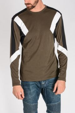 T-shirt GEOMETRIC PANELLED