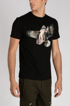 T-shirt Stampata RUBEN'S EAGLE in Cotone