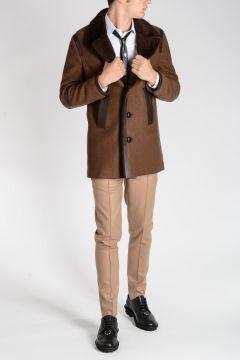 Leather Wool Jacket
